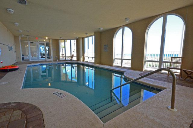 Indoor pool at La Riva